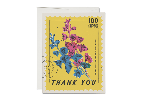100 Percent Thank You Greeting Card from Red Cap Cards