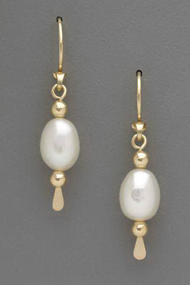 8mm Freshwater Pearl Earrings by Thomas Kuhner