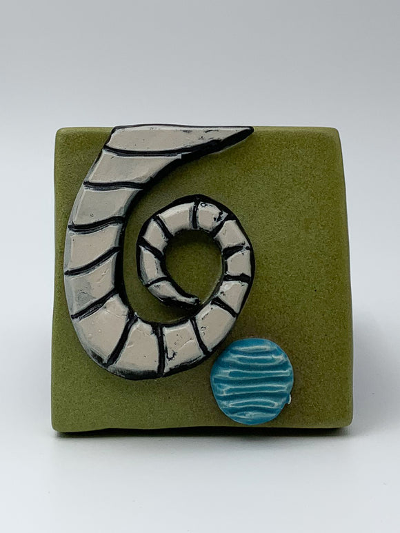 Spiral Wall Tile by Ed and Kate Coleman