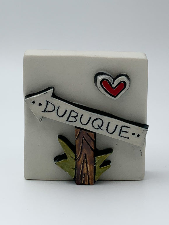 Which Way to Dubuque? Wall Tile by Ed and Kate Coleman