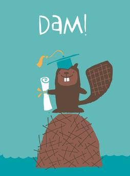Graduation Beaver Greeting Card from Great Arrow Cards