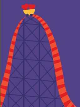 Valentine's Rollercoaster Greeting Card from Great Arrow Cards