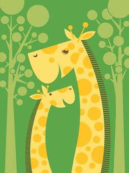Baby Giraffe Greeting Card from Great Arrow Cards