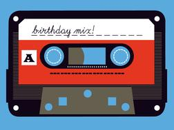 Birthday Mixtape Greeting Card from Great Arrow Cards