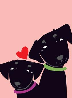 Love Dogs Greeting Card from Great Arrow Cards