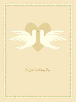 Wedding Doves Greeting Card from Great Arrow Cards
