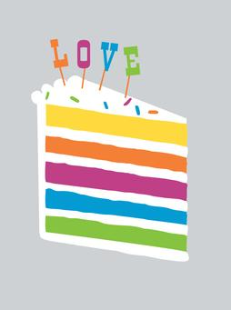 Wedding Rainbow Greeting Card from Great Arrow Cards
