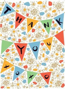 Thank You Pennant Greeting Card from Great Arrow Cards