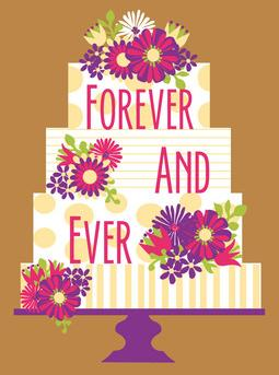 Wedding Cake Greeting Card from Great Arrow Cards