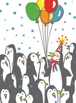 Birthday Penguins Greeting Card from Great Arrow Cards