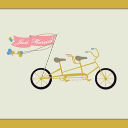 Wedding Tandem Bicycle Greeting Card from Great Arrow Cards