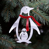 Penguin Ornament by Metal Petal Art