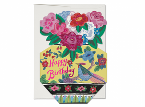 Ornate Flower Vase Birthday Greeting Card from Red Cap Cards