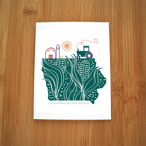 Iowa Farm Card by Kate Brennan Hall