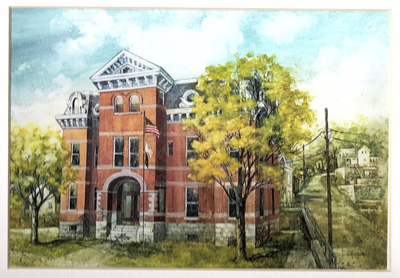 Jo Daviess Courthouse Reproduction by Alda Kaufman