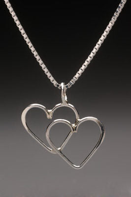 Double Heart Necklace by Thomas Kuhner
