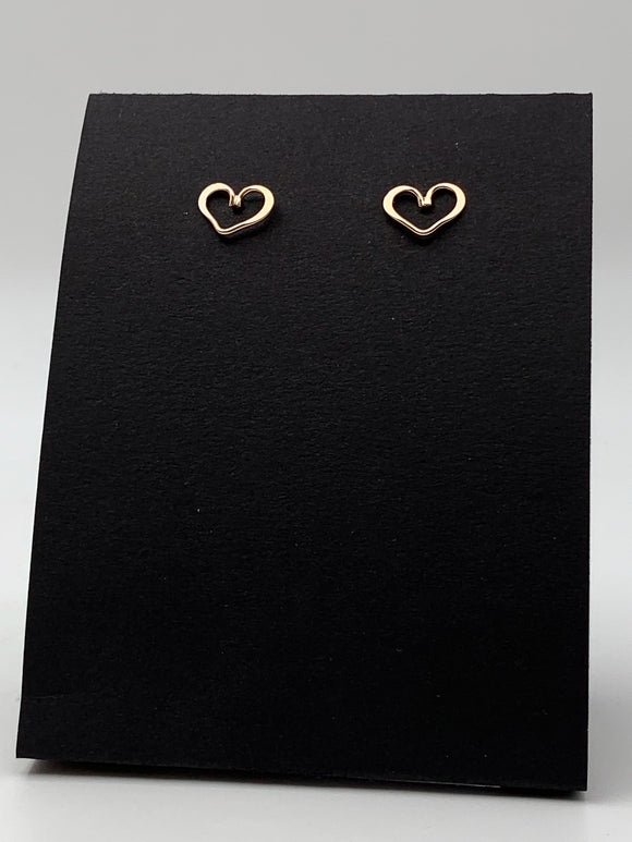 Heart Post Earrings by Thomas Kuhner