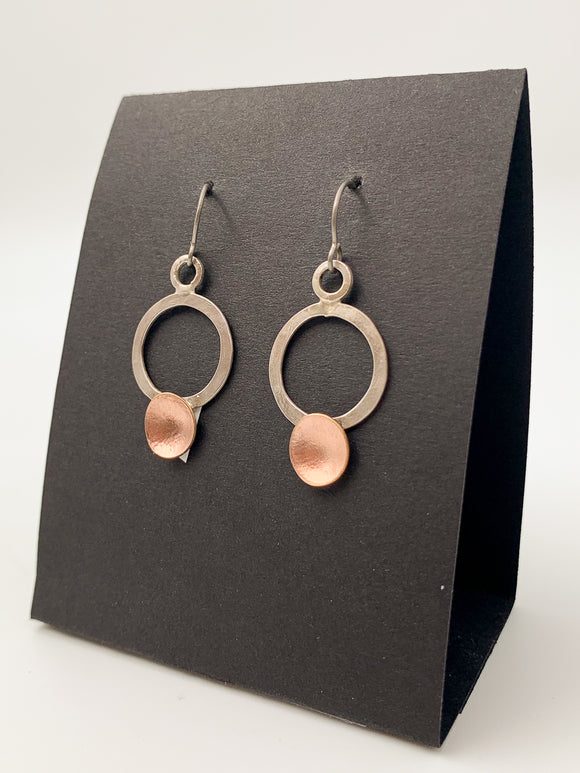 Circle-Dot Earrings by Lisa Williams