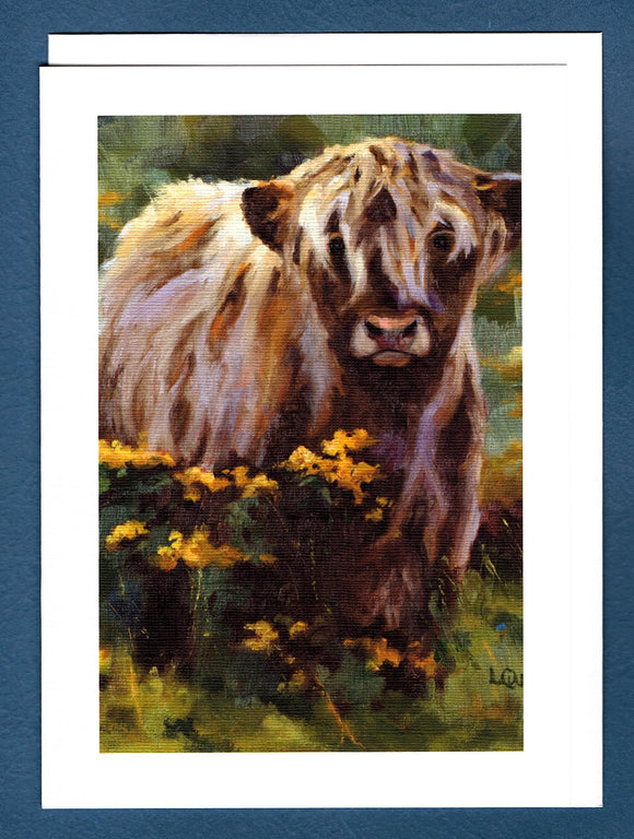 Cowlick Greeting Card by Liz Quebe
