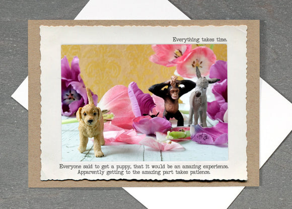 Dog Patience Greeting Card by Jamie Redmond