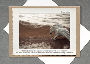 Pegasus Water Greeting Card by Jamie Redmond