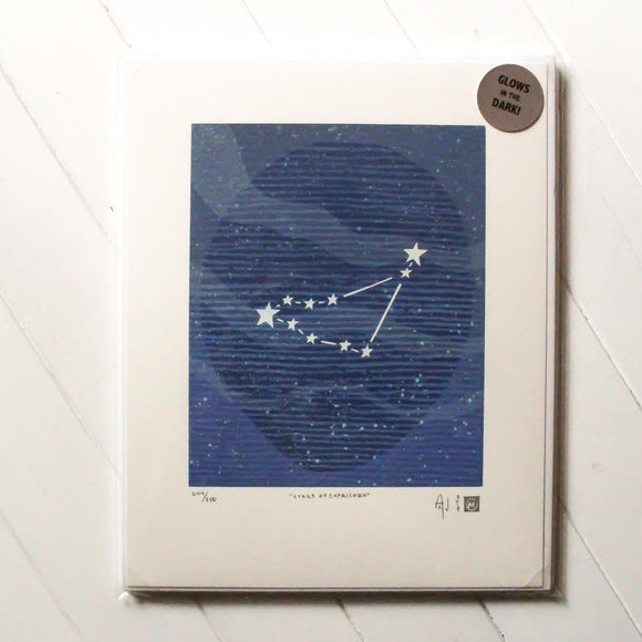 Stars of Capricorn Silkscreen Print by Allison and Jonathan Metzger