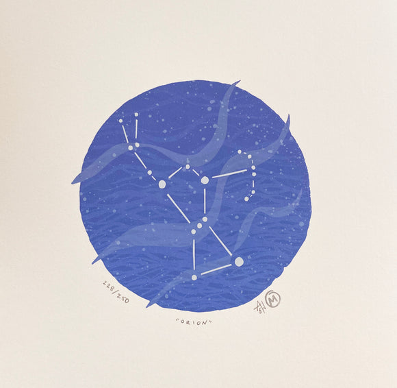 Orion Silkscreen Print by Allison and Jonathan Metzger