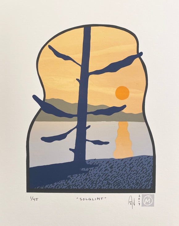Solglimt Silkscreen Print by Allison and Jonathan Metzger