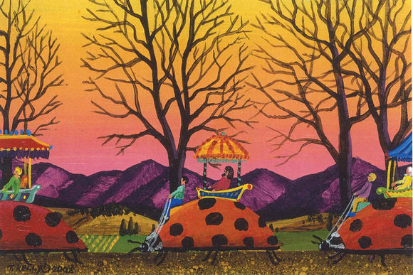 March of the Ladybugs Reproduction by Tom Kelly