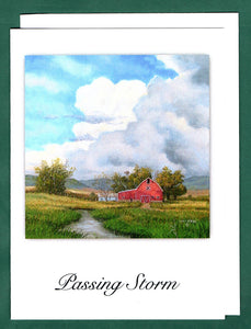Passing Storm Greeting Card by John McGee