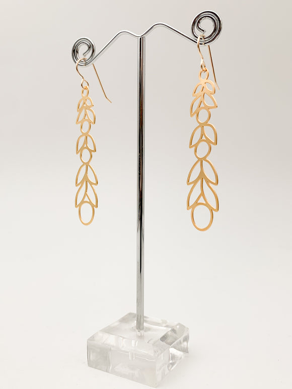 Linear Laurel Earrings by Daphne Olive