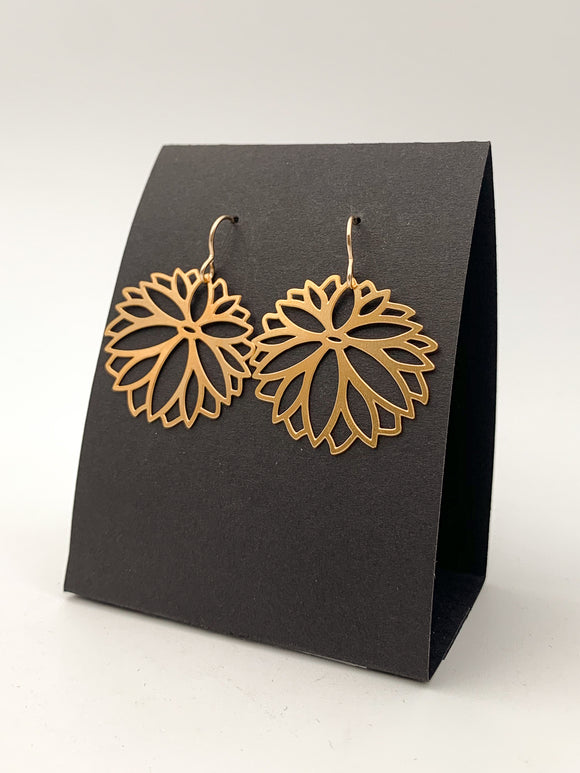 Zinnia Small Earrings by Daphne Olive