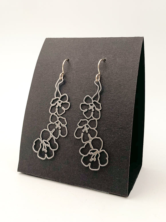 Trumpet Vine Bloom Earrings by Daphne Olive