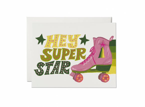 Roller Skate Superstar Greeting Card from Red Cap Cards