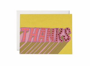 Hearts Thank You Greeting Card from Red Cap Cards