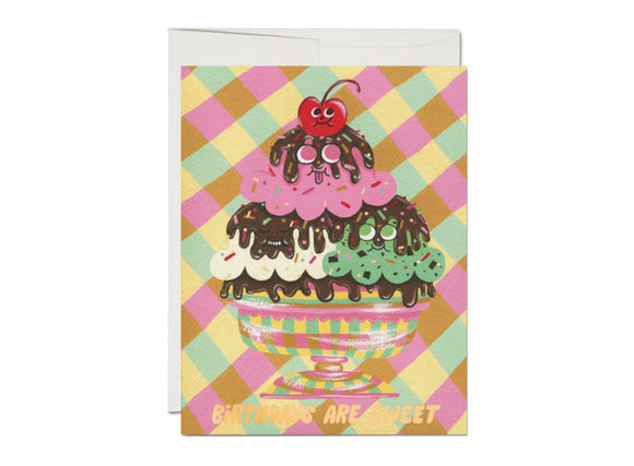 Sundae Birthday Greeting Card from Red Cap Cards