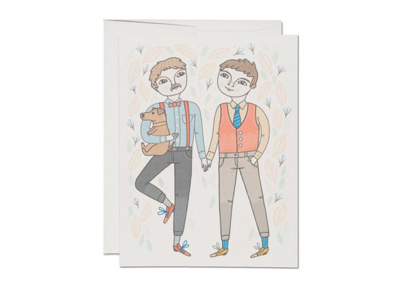 Boy Wedding Greeting Card from Red Cap Cards