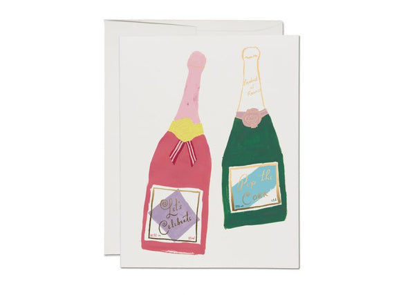 Champagne Congratulations Greeting Card from Red Cap Cards