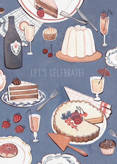Dessert Table Congratulations Greeting Card from Red Cap Cards