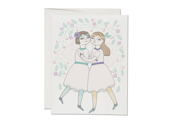 Girl Wedding Greeting Card from Red Cap Cards
