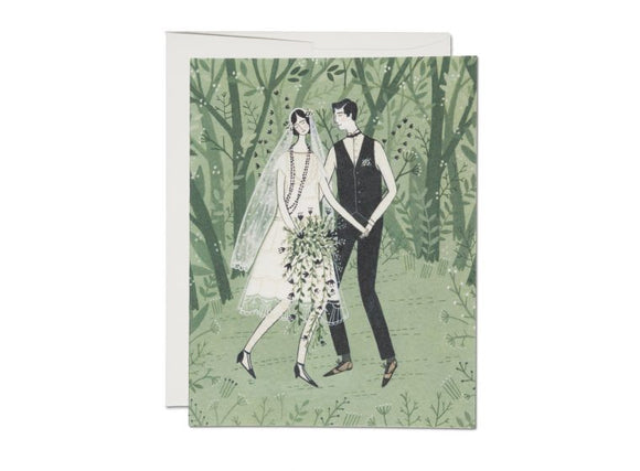 Man and Wife Wedding Greeting Card from Red Cap Cards