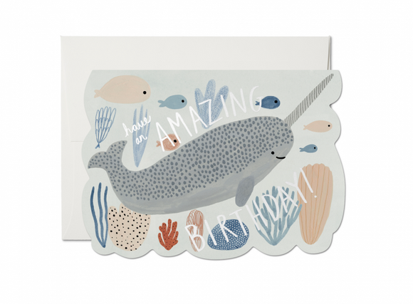 Narwhal Birthday Greeting Card from Red Cap Cards