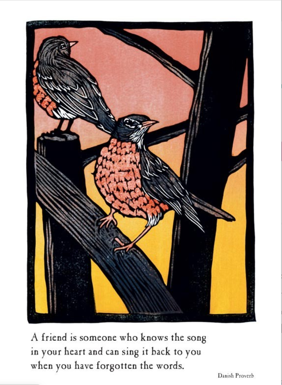 Robins Blank Card from Artists to Watch