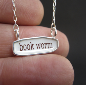 Reversible Book Worm/ Free Thinker Necklace by Mark Poulin
