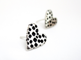 Heart Post Earrings by Mark Poulin