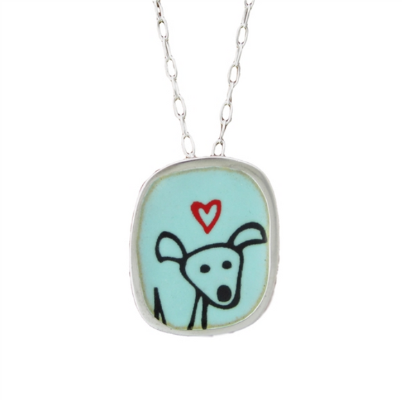 Happy Dog Necklace by Mark Poulin