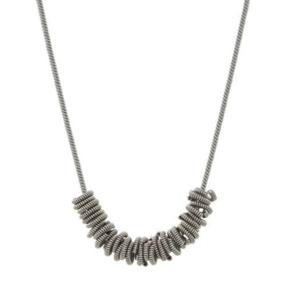 Silver Staccato Necklace by High Strung Studio