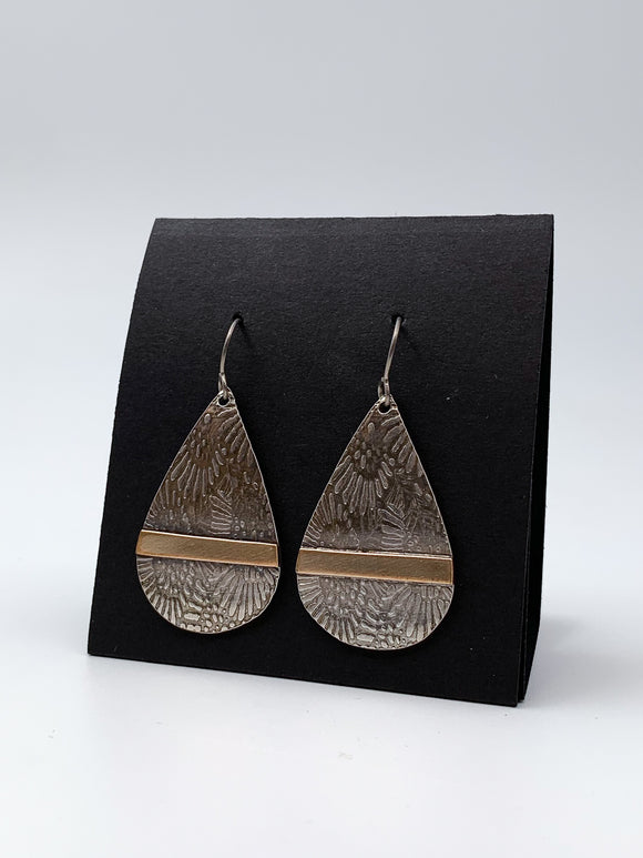 Teardrop Stamped Earrings by Lisa Williams