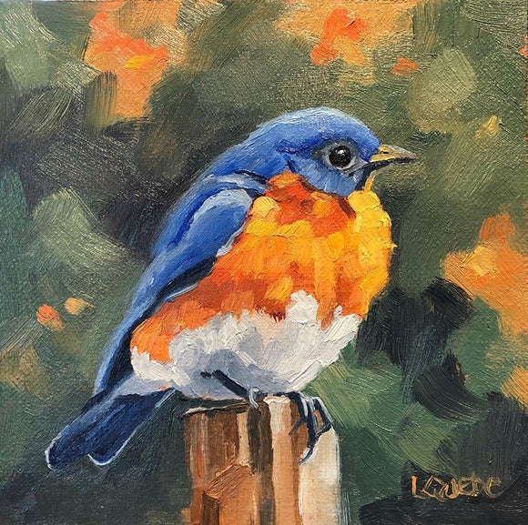 Bluebird Reproduction by Liz Quebe