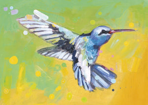 Hummingbirds Blank Card from Artists to Watch